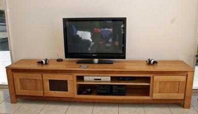 Meuble tv meubles et arts liffolois for Long meuble tv