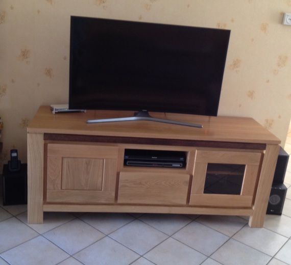 Meuble tv meubles et arts liffolois for Meuble orme massif contemporain
