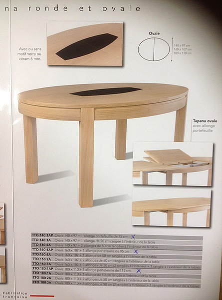 Tables en chene massif meubles et arts liffolois for Table ovale moderne
