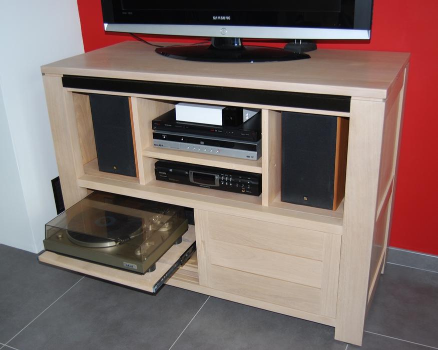 Meuble tv meubles et arts liffolois - Meuble pour tourne disque ...
