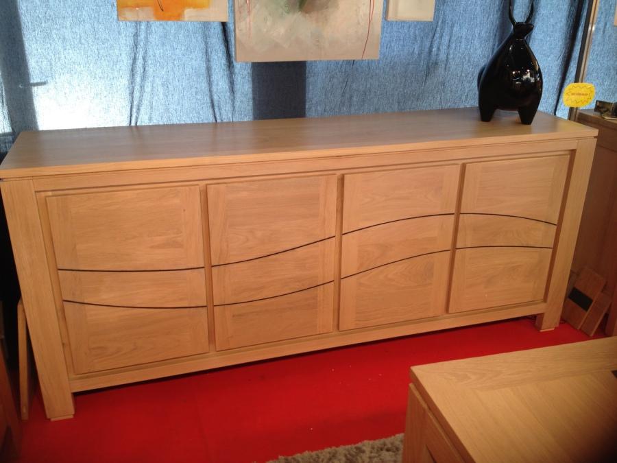 Bahut bas meubles et arts liffolois - Bahut bois massif contemporain ...