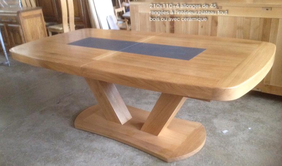 Tables En Chene Massif Meubles Et Arts Liffolois